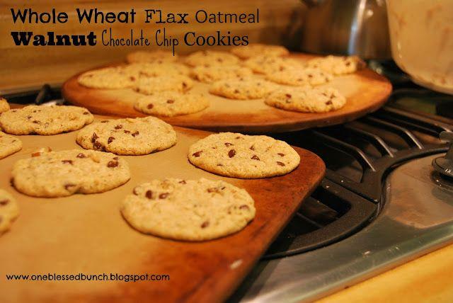 Oatmeal Walnut Cocoa Nib Cookies Recipe — Dishmaps