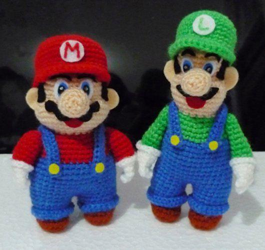 Crochet Amigurumi Mario ( finished doll )