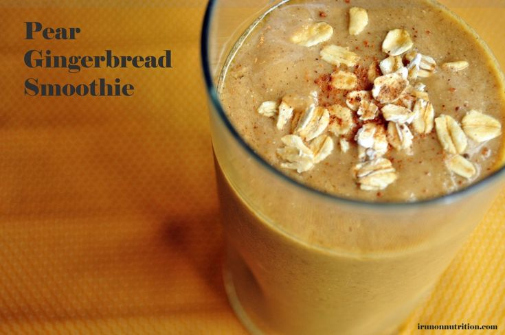 Blackstrap Molasses and an Iron-Rich Pear Gingerbread Smoothie