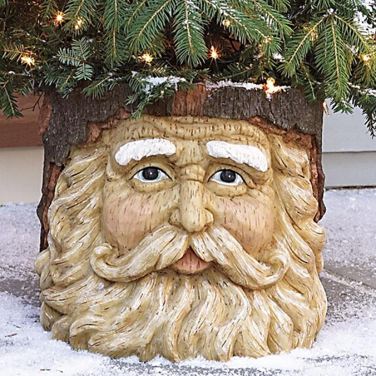 Santa Face Planter Merry Xmas Ideas Decor Pinterest