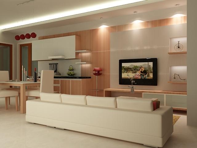minimalis living room pantry