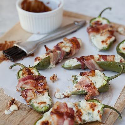 Stuffed Jalapeños with Gorgonzola and Bacon