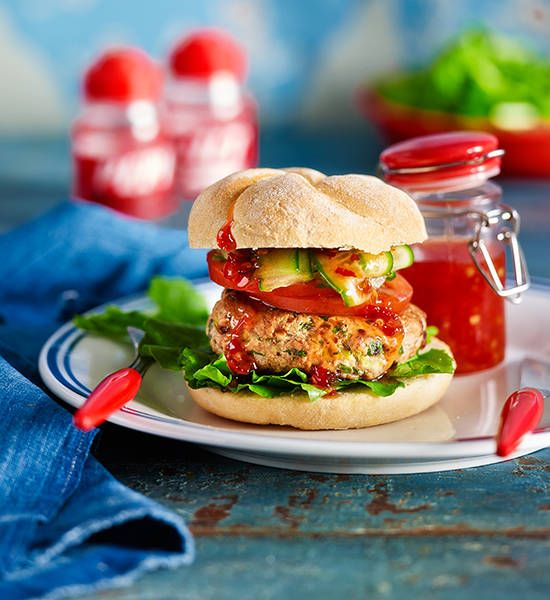 Thai chicken burgers recipe - Better Homes and Gardens