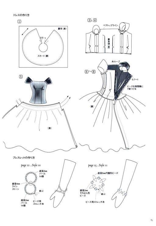 Как сшить короткое платье кукле 193