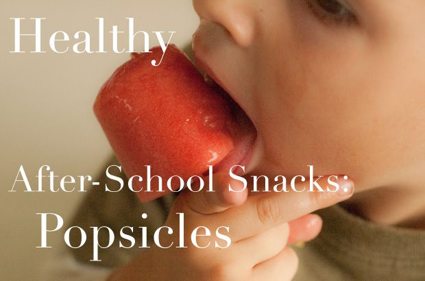 Lots of healthy and delicious popsicle recipes... The perfect after-school treat!
