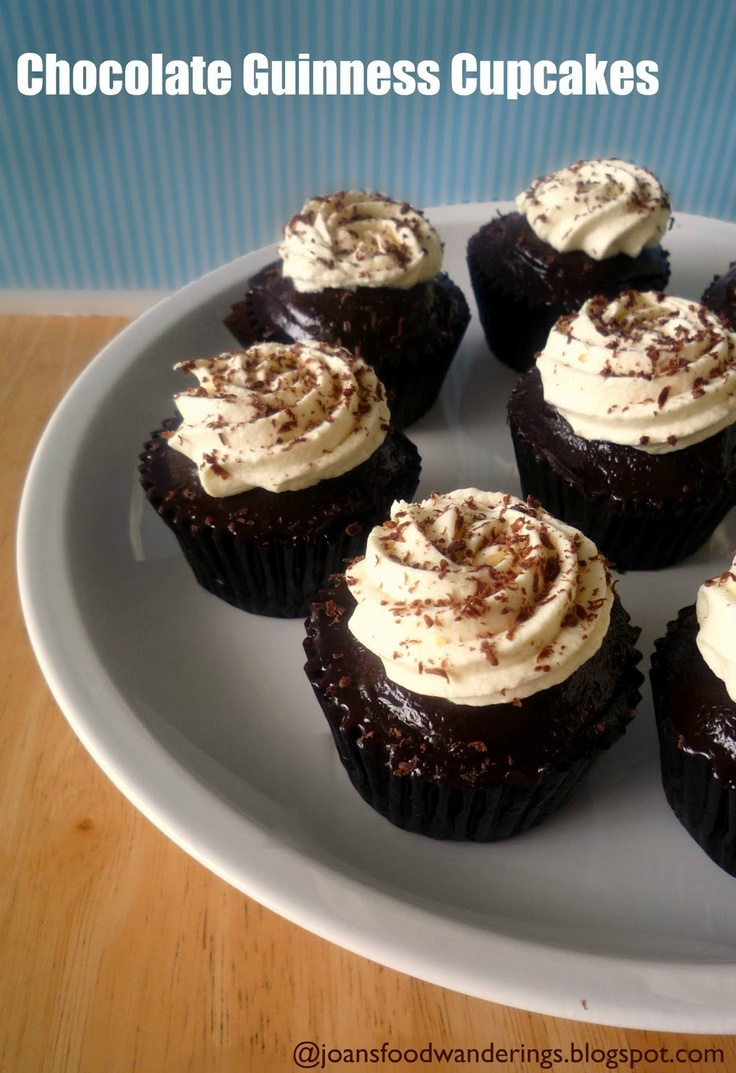 Chocolate Guinness Cupcakes | Adults Only | Pinterest