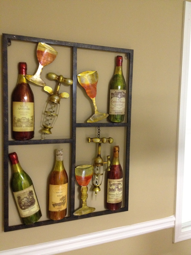 Metal Wall Art Decor Kitchen : Wine metal wall art for the kitchen
