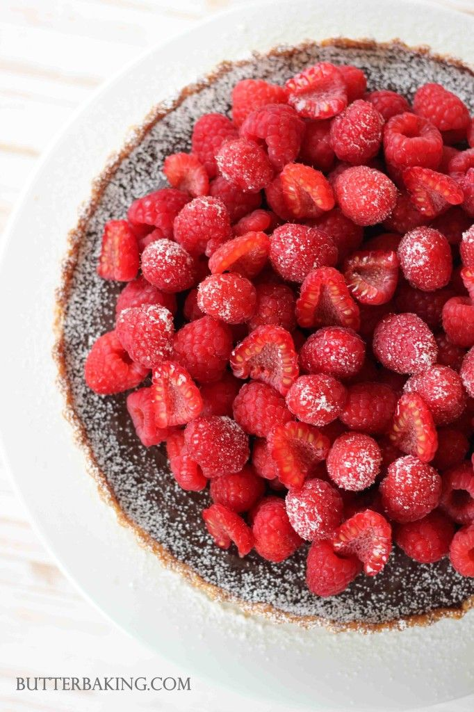 Chocolate Truffle and Raspberry Tart | Butter Baking