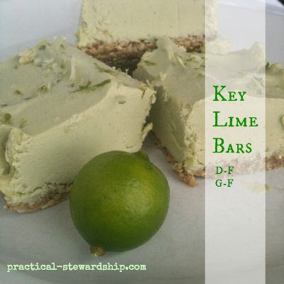 Key Lime Bars D-F, V, G-F Can make with different crust-raw nut crust ...