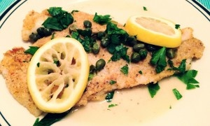 Flounder Piccata! A great twist on the classic chicken dish. Lean ...