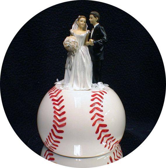 Softball Wedding Cake Toppers