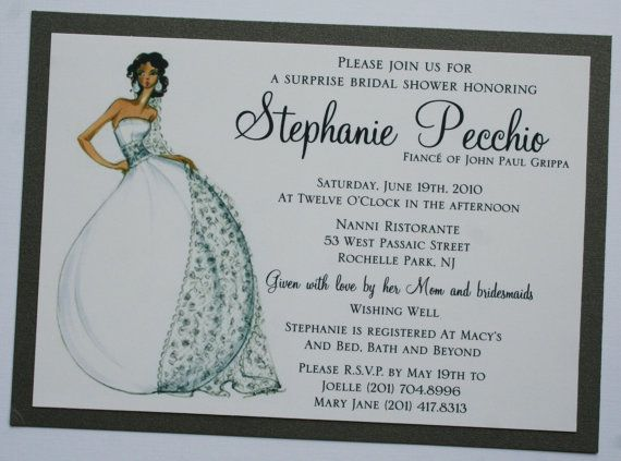 Bridal Shower Invitation with Diva Bride by atouchofsunshine1, $3.00