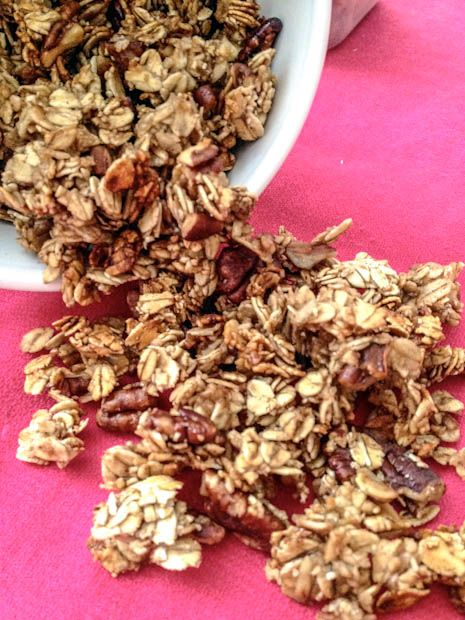 maple pecan pie granola (vegan). I didn't add the sugar (1/2 cup of ...