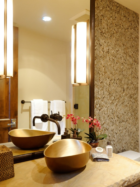 Warm bathroom design bathroom pinterest for Warm bathroom