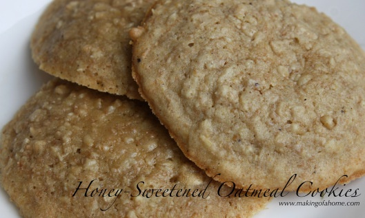 Honey-Sweetened Oatmeal Cookie Recipe | www.makingofahome.com -- Reci ...