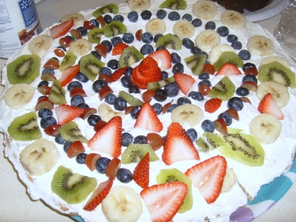 The fruit pizza I made! | for home | Pinterest