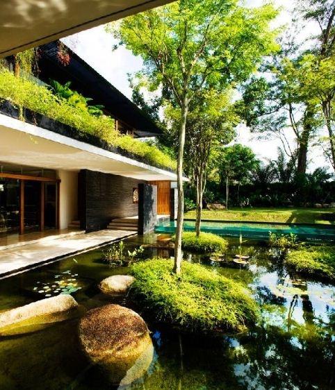 Singapore Tropical Garden Ideas Photograph bungalows desig