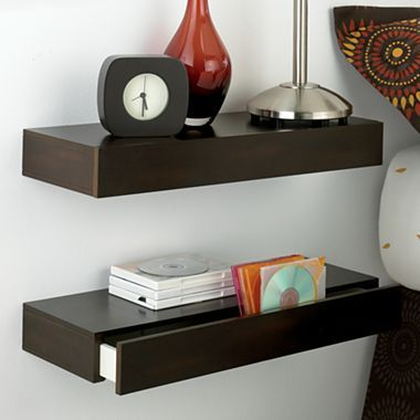 wall shelves with drawers clever pinterest. Black Bedroom Furniture Sets. Home Design Ideas