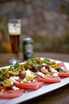 Watermelon Tomato Salad With Feta and Toasted Almonds