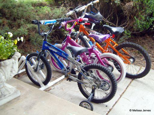 Pvc bike storage shed