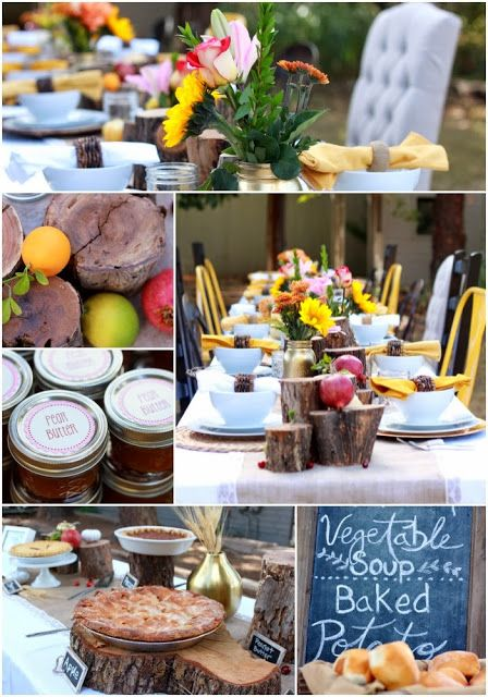 fall themed baby shower party ideas pinterest