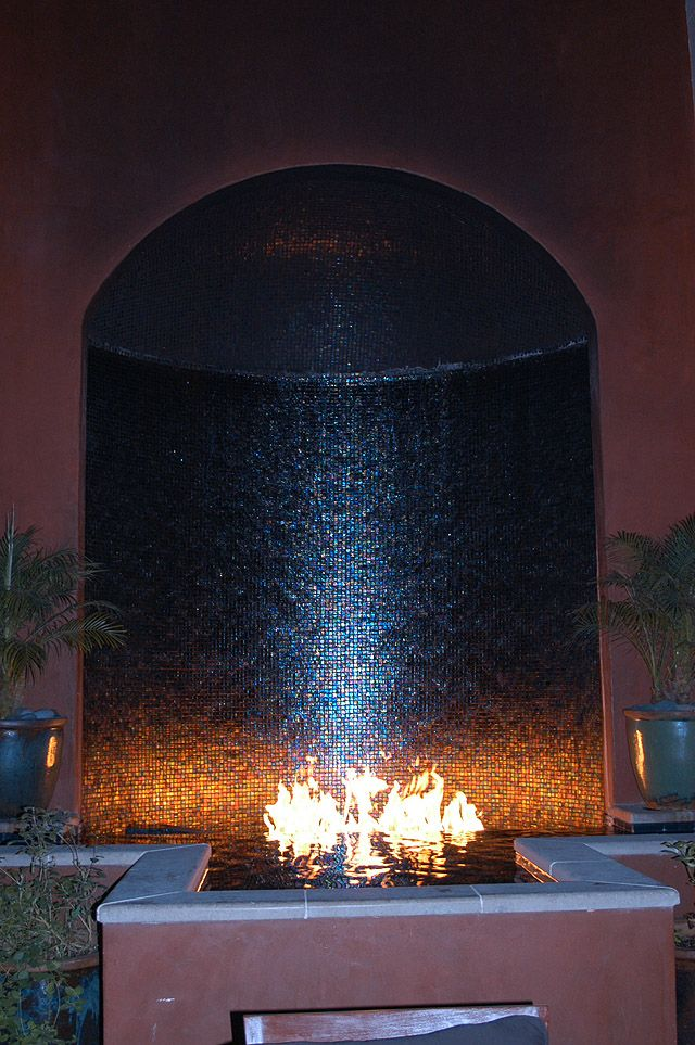 Amazing Waterfall Fire Combo For The Home Pinterest
