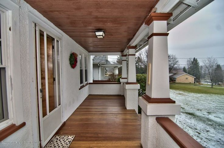 Wood front porch floor curb appeal pinterest