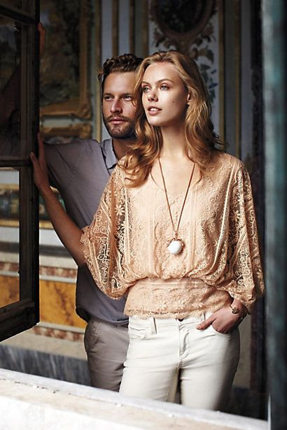 Blushed Lace Blouse #anthropologie