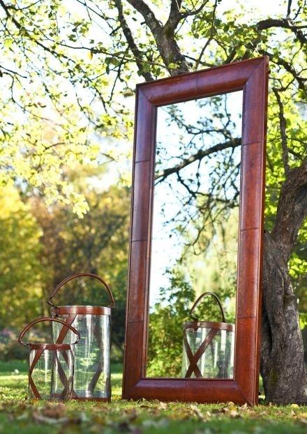 leather wall mirror KIOTO BALMUIR