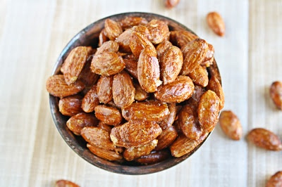 Sweet and Spicy Almonds. I love glazed nuts as a holiday appetizer.