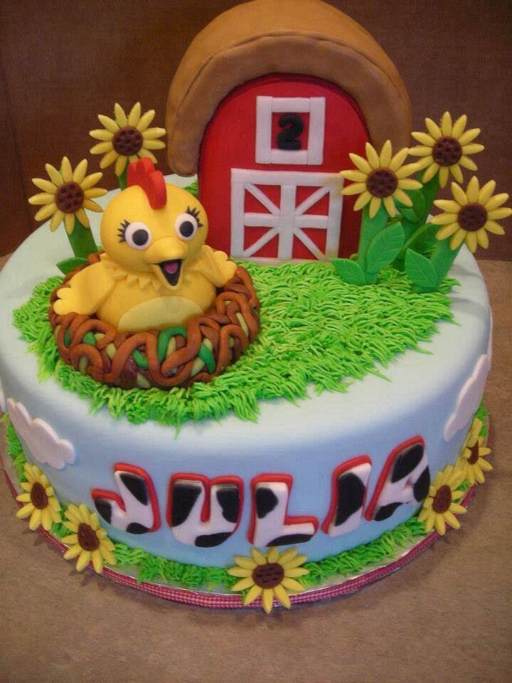 chica sprout birthday cake