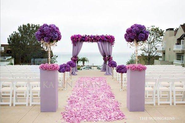 Purple Backyard Wedding : Outdoor Weddings