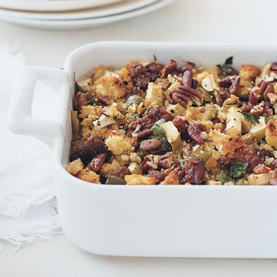 Chorizo and Cornbread Stuffing - Make this every year. Delicious