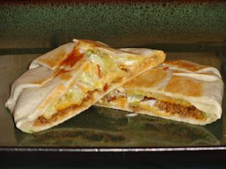 Crunchwrap Supremes, Homemade & Yummy! It's so easy I wonder why I had never thought to do it at home before. You can completely customize these to anyone's liking and they've made great dinners for when only one or two of us are home. So quick and easy! We loved 'em!