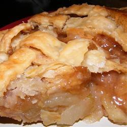Ople's Apple Pie Recipe - butter/sugar/flour sauce poured over lattice ...