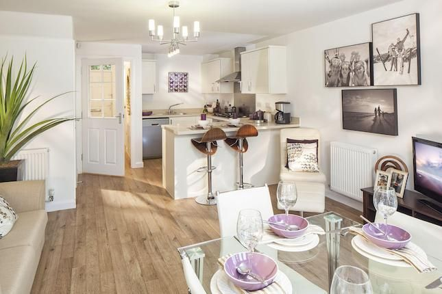 one room can be used as kitchen diner and living and still look bright and spacious