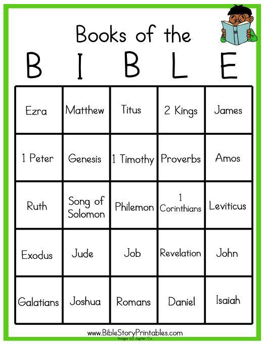 Bible Bingo | Sunday School | Pinterest