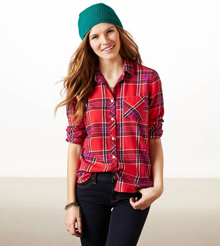 Pinterest Womens red tartan plaid shirt