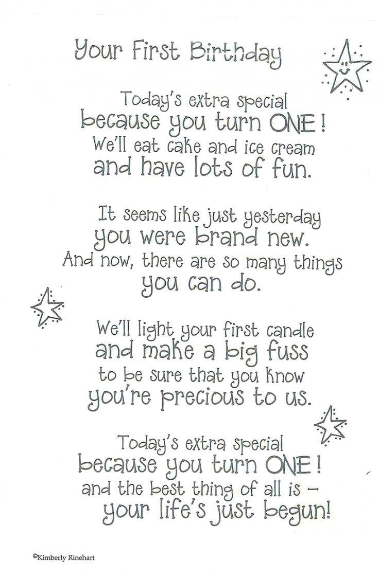 First Birthday Poems
