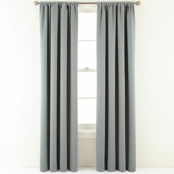 jcpenney royal velvet ally rod pocket blackout curtain panel jcpenney