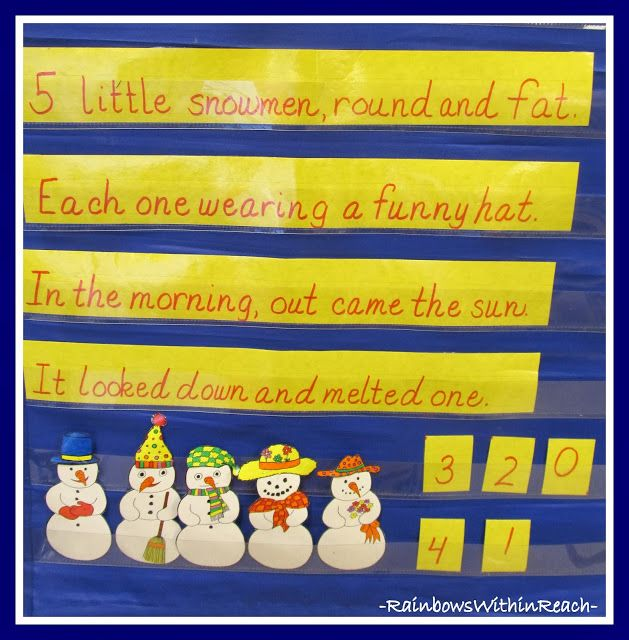 Snowman Counting/Melting Rhyme via RainbowsWithinReach
