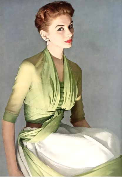 Suzy Parker in Christian Dior 1952.