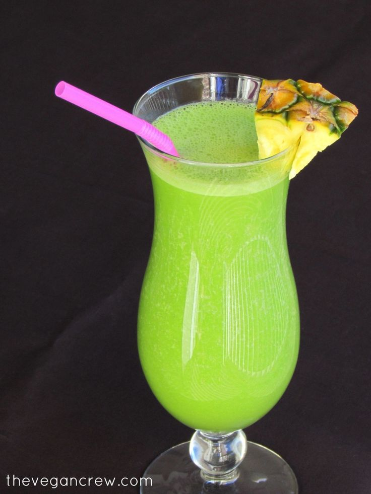 the vegan crew | Green Pineapple Smoothie (Pi a Colada Smoothie ...