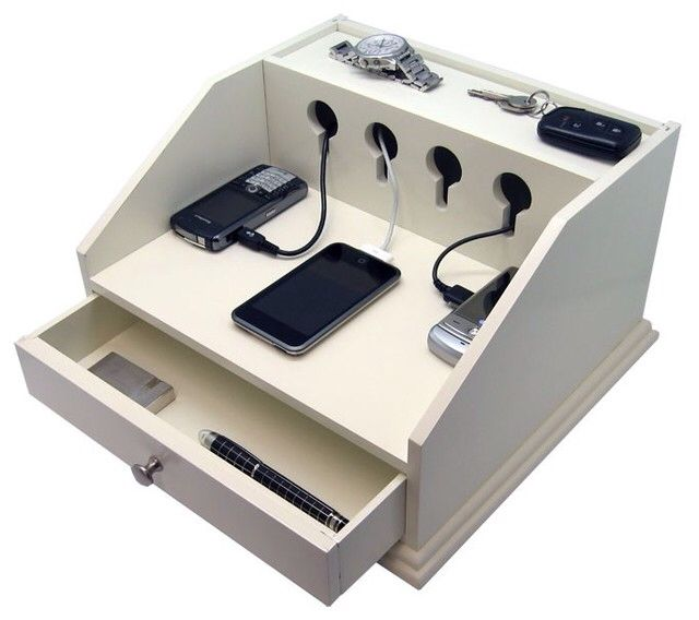 Cell Phone Charging Station Organize Pinterest