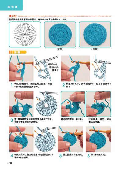 Crocheting In The Round Tutorial : Crochet in Round - Tutorial 4U // hf crochet Pinterest