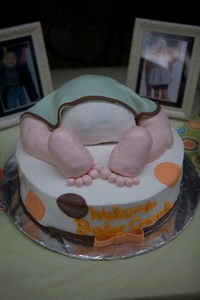 baby shower gender reveal cake kimberly 39 s custom cakes pinterest