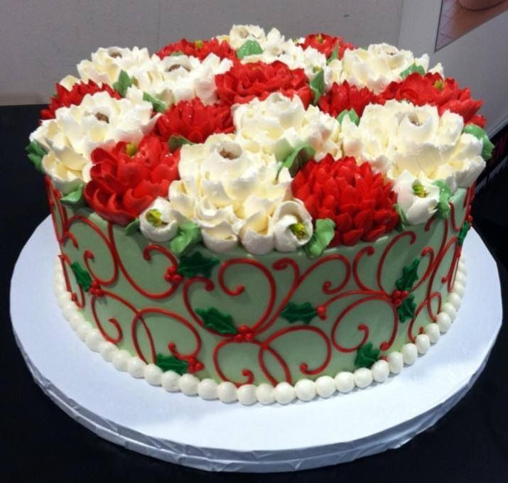 Christmas Cake Decorations Flowers: Pin By Jeanie Engler On Cake Designs