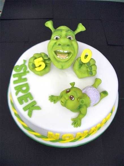 SHREKS 5OTH  Cake by LAURA MANSFIELD