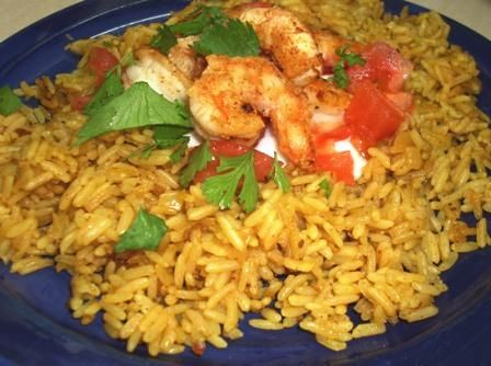 Curry Chicken and Tomato Pilaf. Photo by Karen Elizabeth
