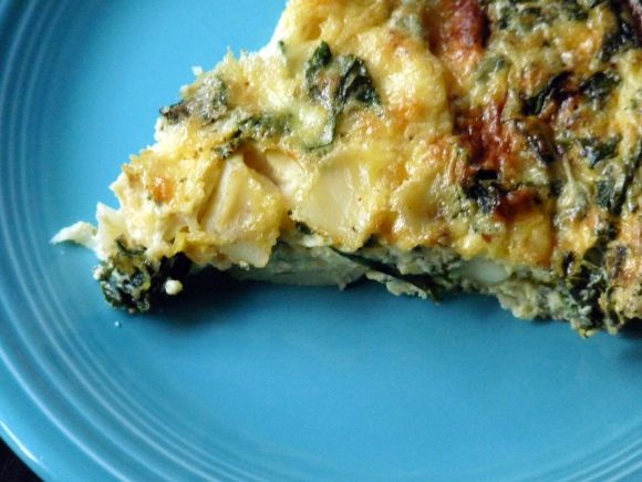 crustless quiche kale potato closeup: make with sweet potatoes instead ...